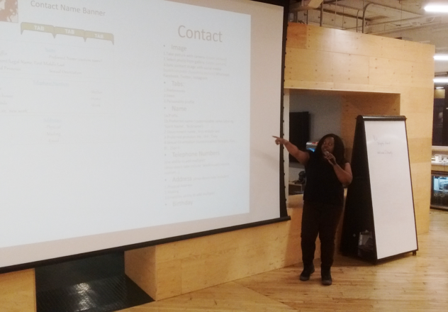 Glamma presenting her first app