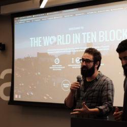 Marc Francoeur & Robinder Uppal presenting for CivicTech Toronto