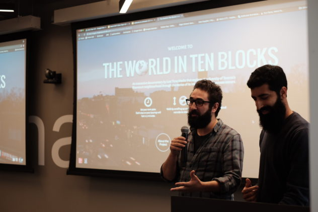 Marc Francoeur & Robinder Uppal presenting for CivicTech Toronto