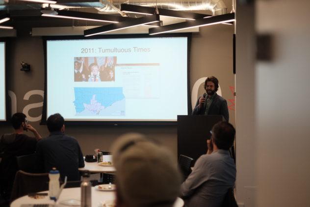Matt Elliott presenting at Civic Tech