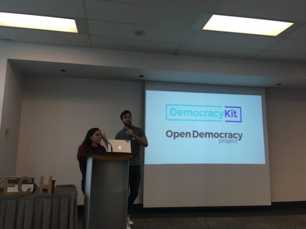 hacknight #98 with Riley Peterson and Micah Richardson presenting for DemocracyKit